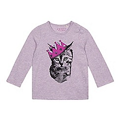 Esprit - Baby girls' lilac princess cat top
