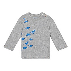 Esprit - Baby boys' grey dinosaurs printed top