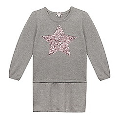 Esprit - Girl's grey star knitted dress