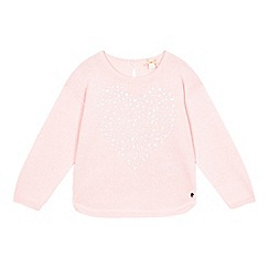 Esprit - Girl's pink glittery heart jumper
