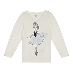 Esprit - Girl's white ballerina long sleeved top