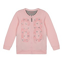 Esprit - Girls' light pink gem zip jumper