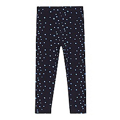 Esprit - Girl's navy star leggings