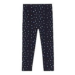 Esprit - Girl's navy star leggings