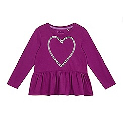 Esprit - Girls' purple heart peplum top