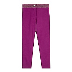 Esprit - Girls' dark pink stretch leggings
