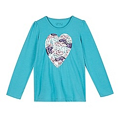 Esprit - Girls' blue heart t-shirt
