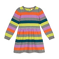 Esprit - Girls' navy striped knitted dress