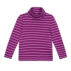 Esprit - Girls' purple striped roll neck top