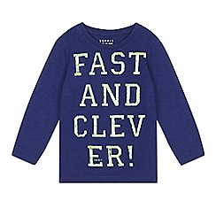 Esprit - Boy's dark blue 'Fast and Clever' long sleeved top