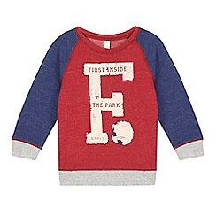 Esprit - Boy's red football park raglan top