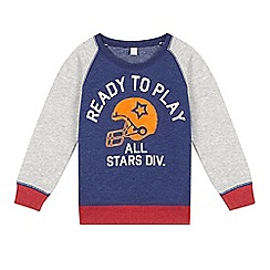 Esprit - Boy's dark blue 'Ready to Play' raglan top