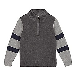 Esprit - Boy's grey funnel neck jumper