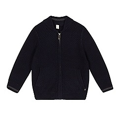 Esprit - Boy's navy zip cardigan