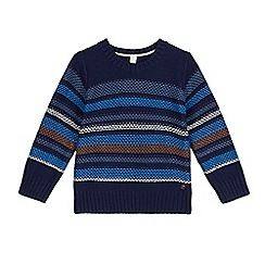 Esprit - Boys' navy striped jumper