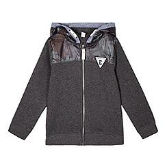Esprit - Boys' grey camouflage zip hoodie