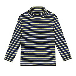 Esprit - Boys' navy striped roll neck jumper