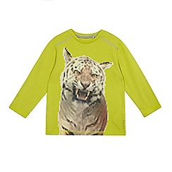 Esprit - Boys' bright green tiger print top