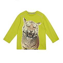Esprit - Boys' bright green tiger print top