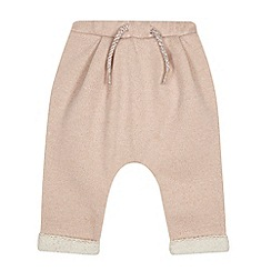 Esprit - Baby girls' pale pink glitter joggers