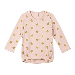 Esprit - Baby girls' pale pink star sweatshirt