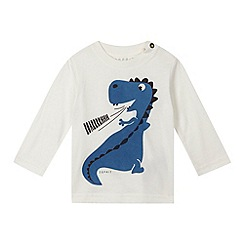 Esprit - Baby boys' off white dinosaur top
