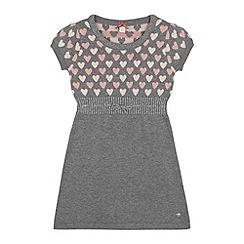 Esprit - Girls' grey heart knitted dress