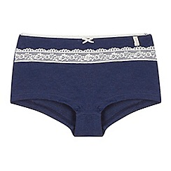 Esprit - Girls' navy lace detail shorts