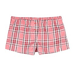 Esprit - Girls' pink checked boxer shorts