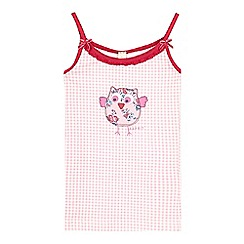Esprit - Girls' pink gingham owl print vest