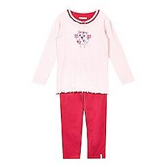 Esprit - Girls' pink owl print pyjama set