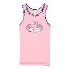 Esprit - Girls' pink hedgehog print vest