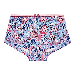 Esprit - Girls' blue woodland print shorts