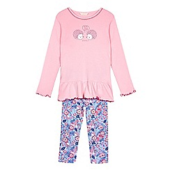 Esprit - Girls' pink hedgehog print pyjama set