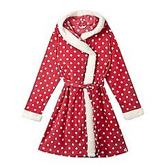 Esprit - Girls pink polka dot kimono dressing gown