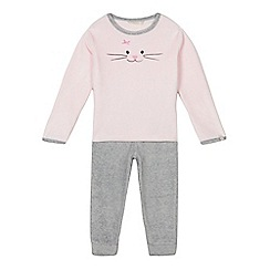 Esprit - Girls' pink cat pyjama set