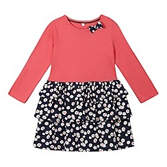 bluezoo - Girls' pink ditsy floral dress