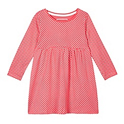 bluezoo - Girls' red long sleeved polka dot jersey dress