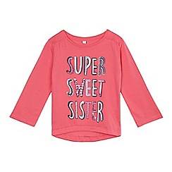 bluezoo - Girls' pink long sleeved sister t-shirt