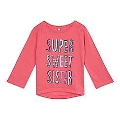 bluezoo - Girls' pink long sleeved sister t-shirt