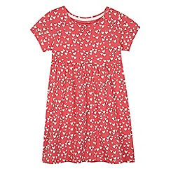 bluezoo - Girls' pink heart print jersey dress