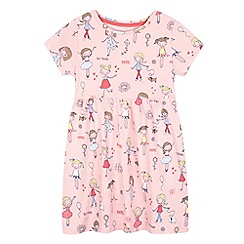 bluezoo - Girls' pink girl print jersey dress
