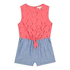 bluezoo - Girls' pink scalloped playsuit