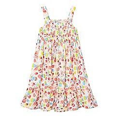 bluezoo - Girls' cream butterfly dress