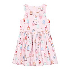 bluezoo - Girls' pink birdhouse print sleeveless dress