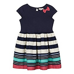 bluezoo - Girls' navy striped mock dress