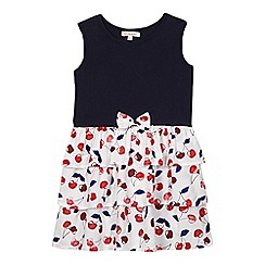 bluezoo - Girls' navy cherry rara dress