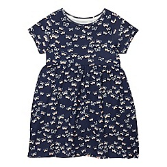 bluezoo - Girls' navy butterfly dress