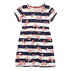 bluezoo - Girls' striped butterfly jersey dress
