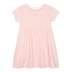 bluezoo - Girls' pale pink striped print jersey dress